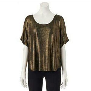 EUC Juicy Couture black good shimmer dolman tee
